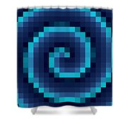 Pixel 4 Shower Curtain