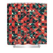 Pixel Art Poster Shower Curtain