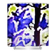 Pixel Lupins 5 Shower Curtain