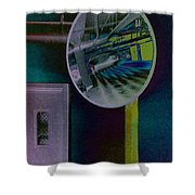 Pixel Parkade Shower Curtain
