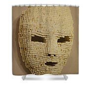 Pixelated Face Shower Curtain