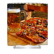 Pizza And Beer Shower Curtain
