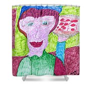 Pizza Anyone Shower Curtain