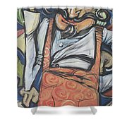 Pizza Chef 2 Bottom Shower Curtain