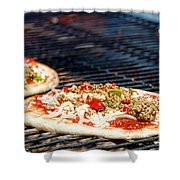 Pizza On The Grill Shower Curtain