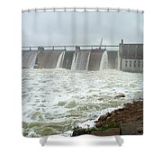 Pk Dam Shower Curtain