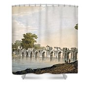 Pl. 34 A View Of The Bridge Shower Curtain