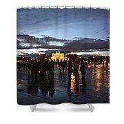 Place Du Carrousel Shower Curtain by Randi Shenkman