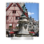 Place Francois Rude - Dijon Shower Curtain