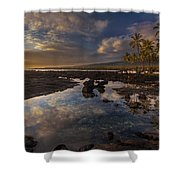 Place Of Refuge Sunset Reflection Shower Curtain