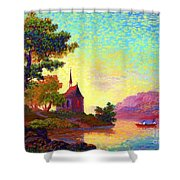Beautiful Church, Place Of Welcome Shower Curtain