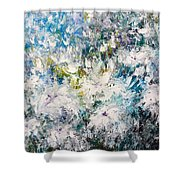 Place Where The Flowers Bloom Forever Shower Curtain