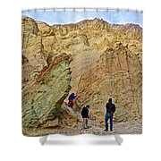 Places To Climb In Golden Canyon In Death Valley National Park-california Shower Curtain
