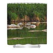 Llano River 2am-106459 Shower Curtain