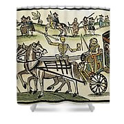 Plague Of London Shower Curtain
