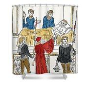 Plague Patient, 1500 Shower Curtain