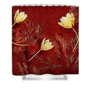 Plain Flowers Pop Art Shower Curtain