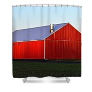 Plain Jane Red Barn Shower Curtain