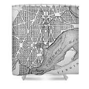 Plan Of The City Of Washington As Originally Laid Out In 1793 Shower Curtain