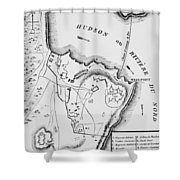 Plan Of West Point Shower Curtain by French School
