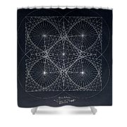 Plancks Blackhole Shower Curtain by Jason Padgett