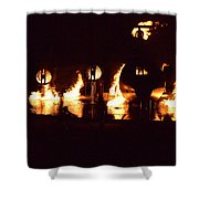Plane Ablaze Shower Curtain