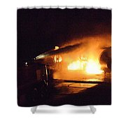 Plane Burning Shower Curtain