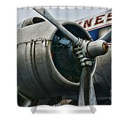 Plane Check Your Engine Shower Curtain
