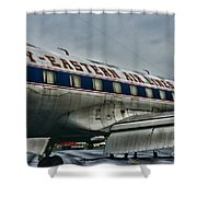 Plane Fly Eastern Air Lines Shower Curtain