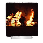 Plane Heats Up Shower Curtain