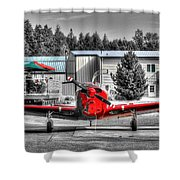 Flying To Lunch In Pacific Northwest Washington  Shower Curtain