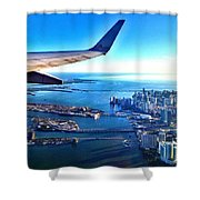 Plane Over Miami Shower Curtain