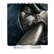 Plane - Pilot - Prop - You Are Clear To Go Shower Curtain by Mike Savad