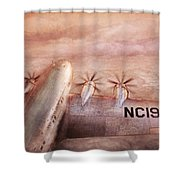 Plane - Pilot - Tropical Getaway Shower Curtain by Mike Savad