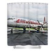 Plane Props On Capital Airlines Shower Curtain