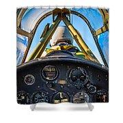 Plane Ride Shower Curtain
