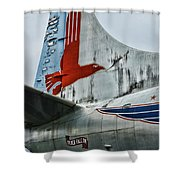 Plane Tail Wing Eastern Air Lines Shower Curtain