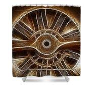 Plane Wooden Prop Shower Curtain by Paul Ward