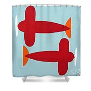 Planes  Shower Curtain
