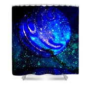 Planet Disector Reflected Shower Curtain