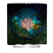 Planet Disector Shadows Shower Curtain