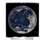 Planet Earth 600 Million Years Ago Shower Curtain