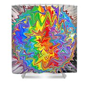 Planet Funk 3 Shower Curtain