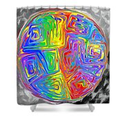 Planet Funk Shower Curtain