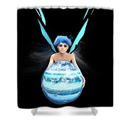 Planet Gift Shower Curtain