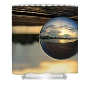 Planetary Shower Curtain by Laura Fasulo