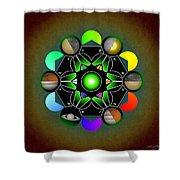 Planetary Metatron Zodiac Shower Curtain