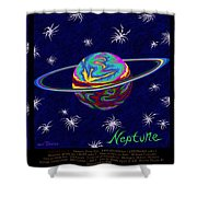 Planets 7 8 9 - Science Shower Curtain
