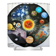 Planets And Nebulae In A Day Shower Curtain