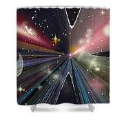 Planets Dancing Shower Curtain